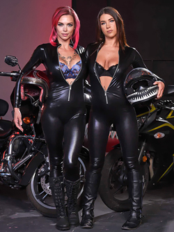 Busty Bloodthirsty Biker Babes - Anna Bell Peaks and Felicity Feline