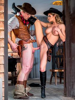 Horny Pornstar Jessa Rhodes in Wild West Cosplay - Porn Parody