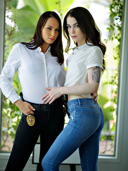 Horny Female Agents - Aidra Fox is Licking Evelyn's Claire Ass Hole
