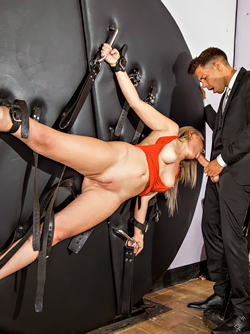 Elegant and Kinky Blonde Pornstar Amaris and her BDSM Fantasy
