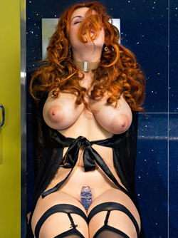 Redhead Bombshell Lillith Von Titz in 'On a Lonely Day' via Met-Art